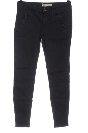 Zara Basic pantalón de cintura baja negro look casual