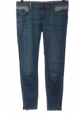 Zara Basic Hüfthose blau Casual-Look
