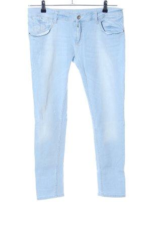 Zara Basic Jeans vita bassa blu stile casual