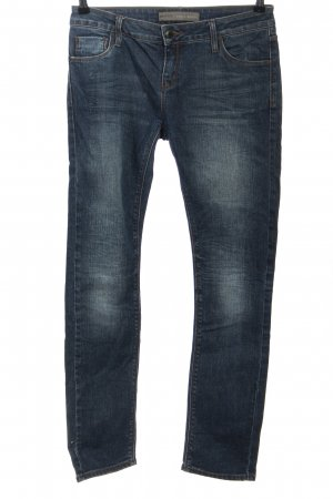 Zara Basic Low Rise Jeans blue casual look