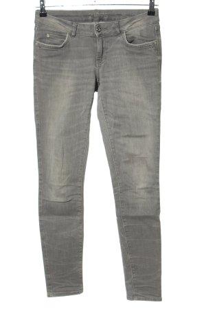 Zara Basic Jeans vita bassa grigio chiaro stile casual