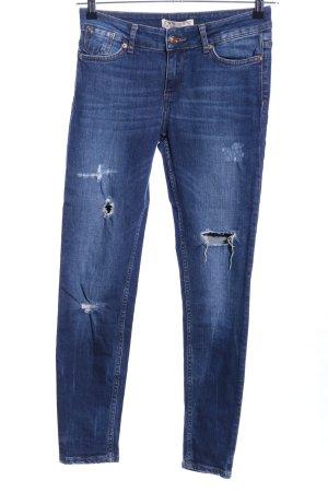 Zara Basic Vaquero hipster azul look casual