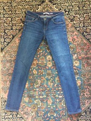 Zara Jeans slim bleu coton