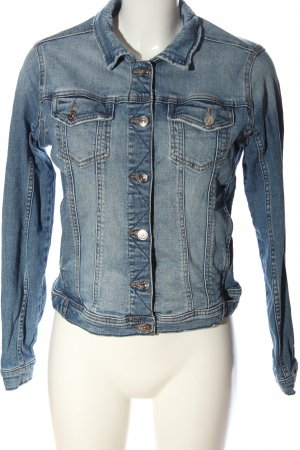 Zara Basic Jeansjacke blau Casual-Look