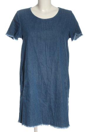 Zara Basic Jeansjurk blauw casual uitstraling