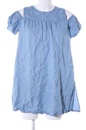 Zara Basic Jeanskleid blau Casual-Look