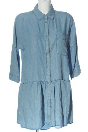 Zara Basic Robe en jean bleu style décontracté