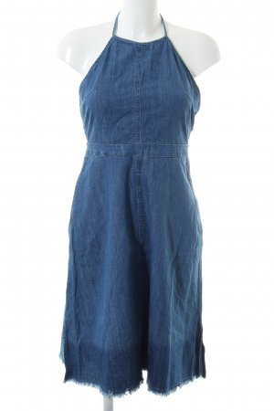 Zara Basic Jeanskleid blau Farbverlauf Casual-Look