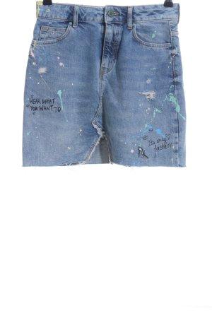 Zara Basic Spijkerrok blauw prints met een thema casual uitstraling