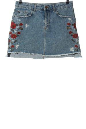Zara Basic Jeansrock Blumenmuster Casual-Look
