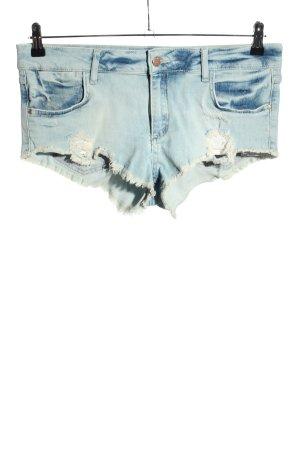 Zara Basic Jeansshorts blau Casual-Look