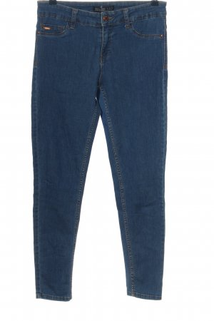Zara Basic Jeggings blau Casual-Look