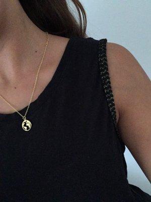 Zara Basic Jersey Top Shirt Longtop Cami Camisole Leinen Schwarz Grau Gold XS 34 NEU
