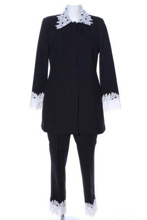 Zara Basic Jersey Twin Set schwarz-weiß Business-Look