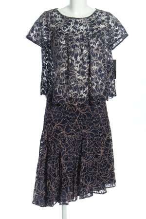 Zara Basic Twin set in jersey grigio chiaro-crema motivo astratto elegante