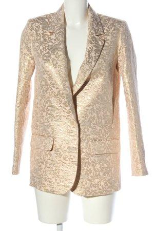 Zara Basic Jerseyblazer goldfarben Allover-Druck extravaganter Stil