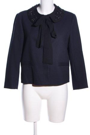 Zara Basic Jerseyblazer schwarz-blau Business-Look