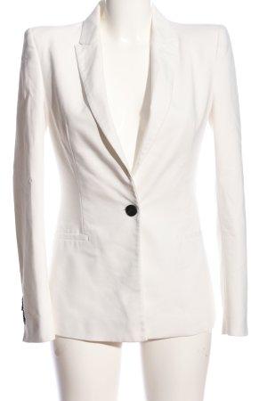 Zara Basic Jerseyblazer weiß Business-Look