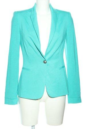 Zara Basic Jerseyblazer türkis Business-Look