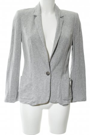 Zara Basic Jerseyblazer hellgrau meliert Business-Look