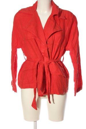 Zara Basic Jerseyblazer rot Casual-Look