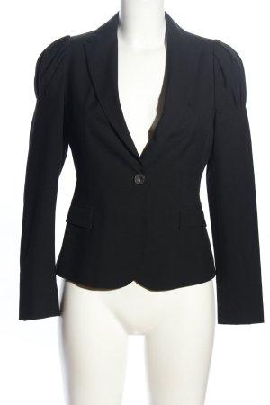 Zara Basic Jerseyblazer schwarz Business-Look
