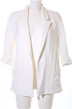 Zara Basic Jerseyblazer weiß Casual-Look