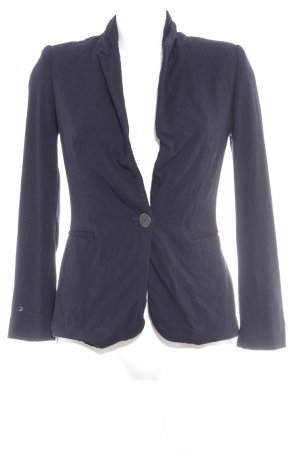 Zara Basic Jerseyblazer dunkelblau Business-Look