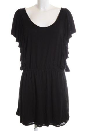 Zara Basic Jerseykleid schwarz Casual-Look