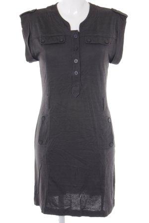 Zara Basic Jerseykleid dunkelgrau Textil-Applikation