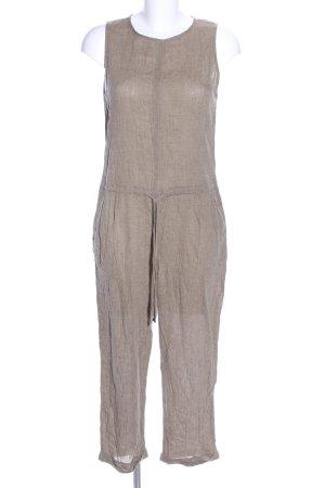 Zara Basic Jumpsuit braun meliert Casual-Look