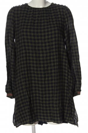 Zara Basic Jumpsuit khaki-schwarz Allover-Druck Casual-Look