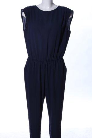 Zara Basic Jumpsuit blau Casual-Look