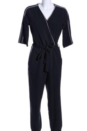 Zara Basic Jumpsuit schwarz Business-Look
