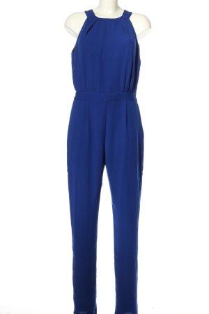 Zara Basic Jumpsuit blau Business-Look
