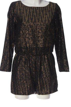 Zara Basic Jumpsuit bronzefarben-schwarz meliert Casual-Look