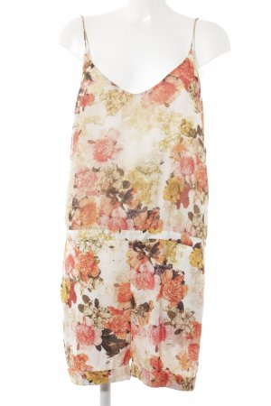 Zara Basic Jumpsuit Blumenmuster