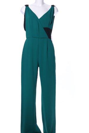 Zara Basic Jumpsuit grün-schwarz Casual-Look