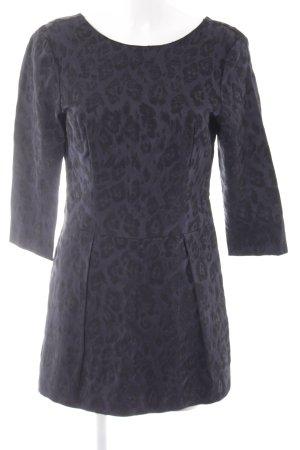 Zara Basic Jumpsuit dunkelblau-schwarz florales Muster Elegant