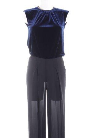 Zara Basic Jumpsuit dunkelblau-schwarz Party-Look