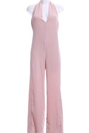 Zara Basic Jumpsuit pink Casual-Look