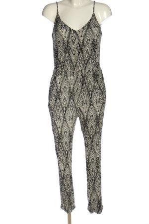 Zara Basic Jumpsuit hellgrau Allover-Druck Casual-Look