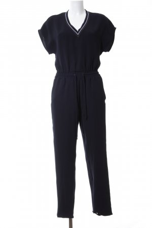 Zara Basic Jumpsuit schwarz Casual-Look