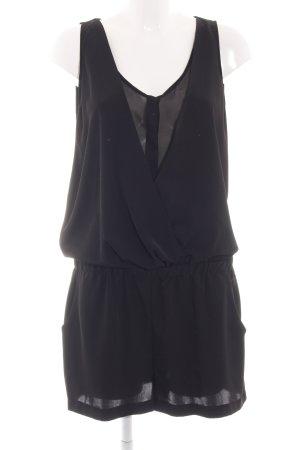 Zara Basic Jumpsuit schwarz Casual-Look