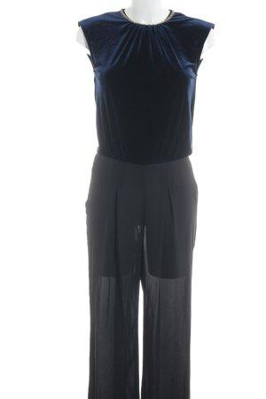 Zara Basic Jumpsuit schwarz-dunkelblau Elegant