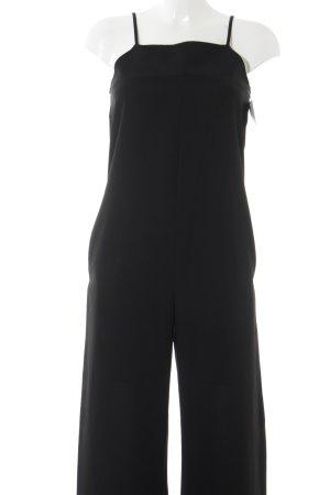 Zara Basic Jumpsuit schwarz Party-Look