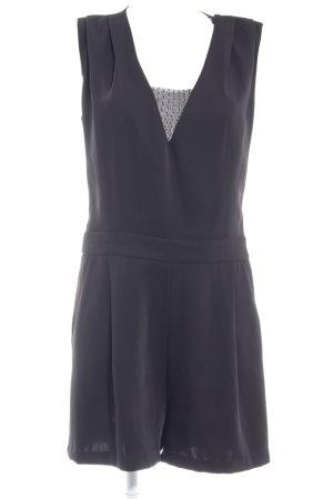 Zara Basic Jumpsuit schwarz Punktemuster Elegant