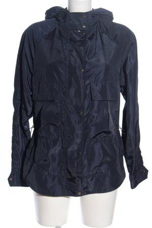 Zara Basic Kurtka z kapturem niebieski W stylu casual