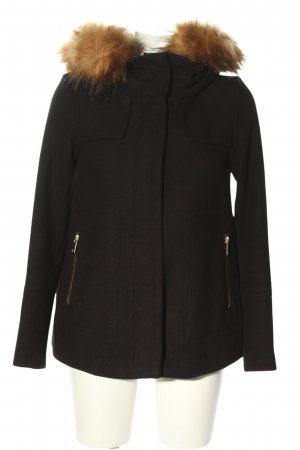 Zara Basic Kapuzenjacke schwarz Casual-Look