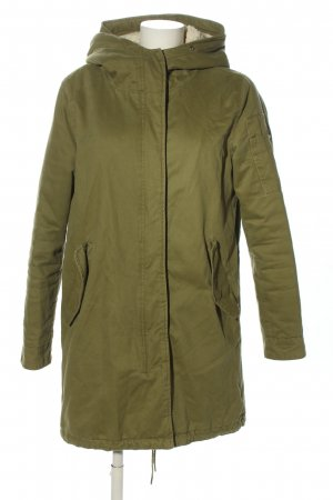 Zara Basic Kapuzenjacke khaki Motivdruck Casual-Look
